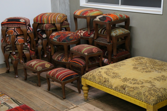 old kilim chair