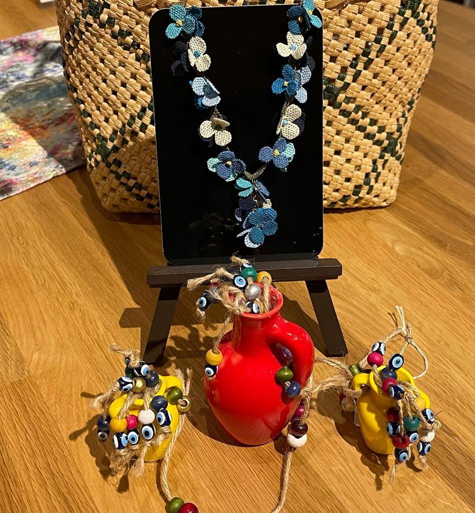 トルコの雑貨代表オヤと陶器とナザール